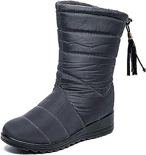 Fanville Mode Femmes Bottes Hiver Bottes de Neige Chaudes épaissir Glands imperméables Chaussures Hiver Bottines Chaudes B...