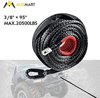 AUXMART Wire Roller Fairlead 12000 lbs Winch Rope Frame for Steel Cable 297x118x80mm