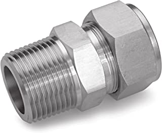 Ham-Let 3002006 Stainless Steel 316 Let-Lok Compression Fitting, Adapter, 1/2
