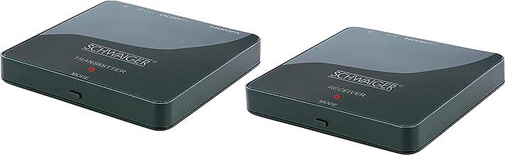 SCHWAIGER -HDFS100 511- HDMI-Funk-Set | ein Receiver auf zwei Fernseher | 1080p HD..