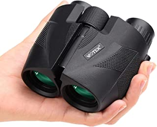 WOTEK Prismaticos 12×25 Mini Portátil con Prismas BAK4 y FMC, Prismáticos Profesionales HD para Camping, Observación de Av...