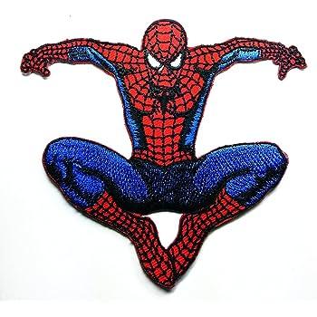 Spider Web Spiderweb Cartoon Kids Super Children Super Hero Iron-On Patches A185