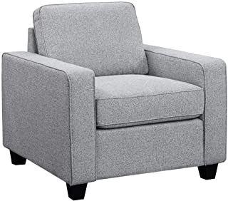 Scott Living Brownswood Fabric Chair in Grey