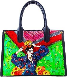 Borsa in pelle dipinta a mano – Frida nel cuore - Borse Donna, Borse a Mano, Vera Pelle, Made in Italy, in Pelle Dipinta, ...