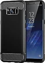 JETech Funda para Samsung Galaxy S8 Plus, Carcasa con Absorción de Impacto, Diseño de Fibra de Carbon, Negro