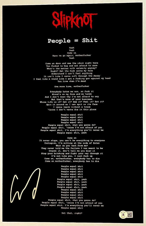 Corey Sale overseas Special Price Taylor Signed Slipknot People =$@ Poster Ph T Lyrics 11x17