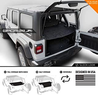 GPCA Wrangler 2018-2019 JL Unlimited Cargo Cover PRO - Reversible for TOP ON/Topless 4DR JL Sports/Sahara/Freedom/Rubicon - SoftTop/Hardtop