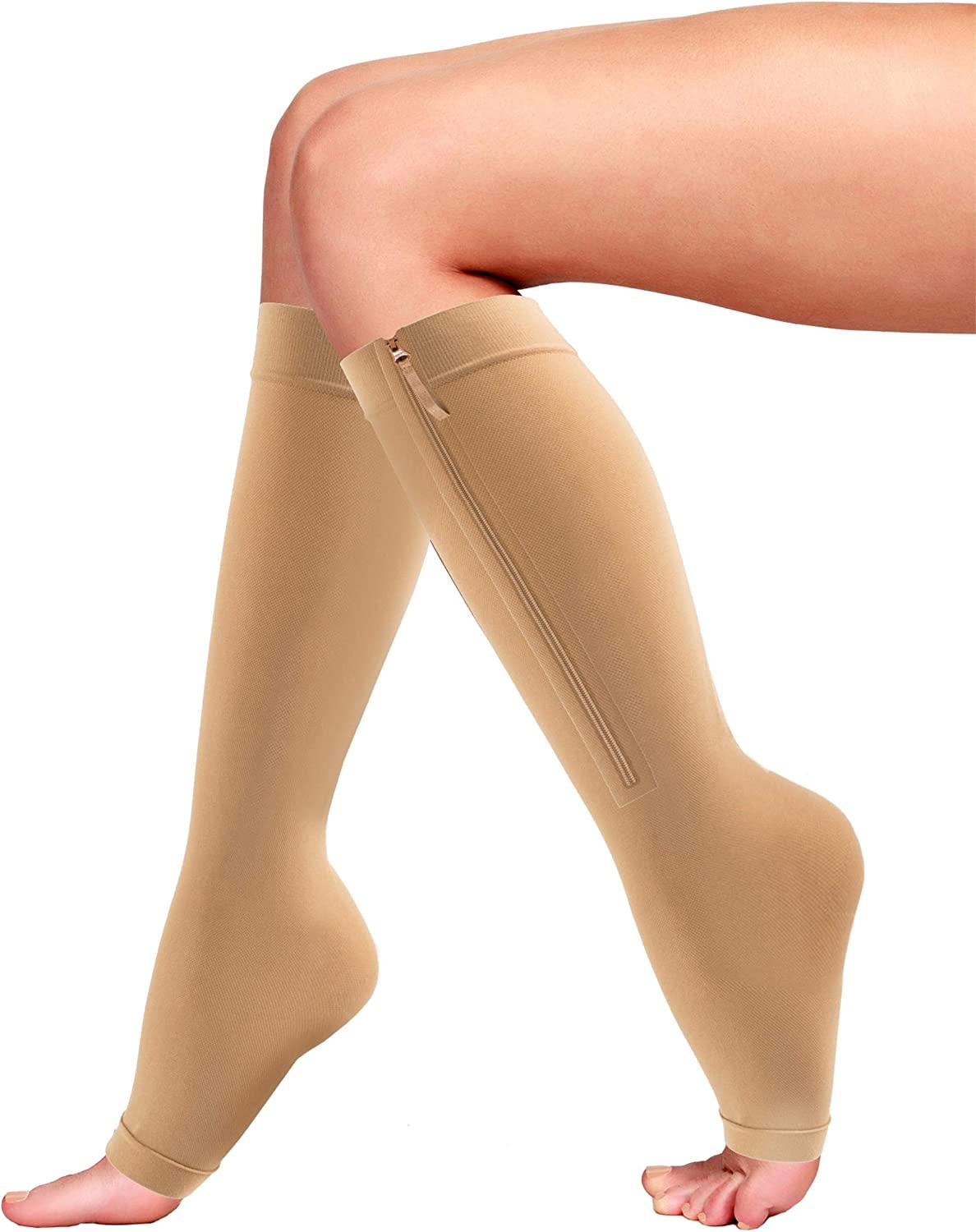 Bluestone Our shop most popular Zipper Compression Sock safety 20-30mmhg Men Women for and