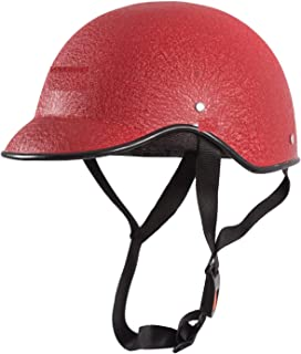 SARTE All Purpose Safety Helmet with Strap (Red, Free Size)