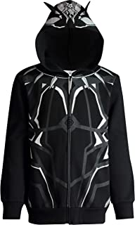 Marvel Avengers Black Panther Boys' Zip-Up Costume Hoodie