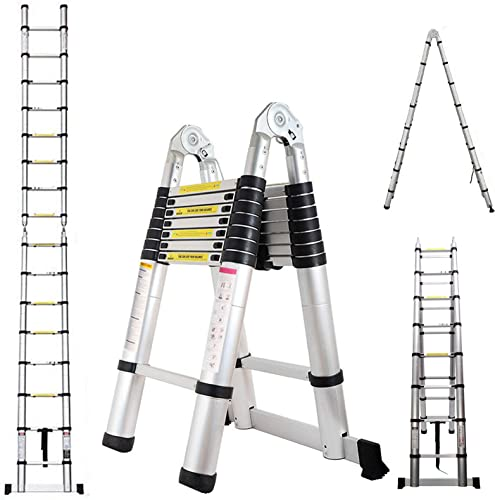popular Aluminum high quality Telescoping Telescopic online sale Extension Ladder 16.5ft 330 Pound Load Capacity A-Frame online
