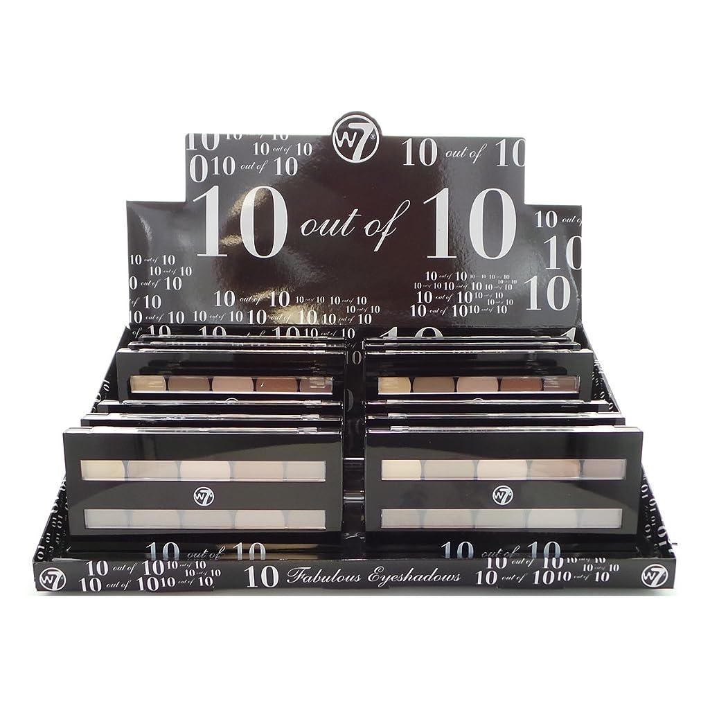 不合格歯科の試みるW7 Perfect 10 out of 10 Eyeshadow Palette Browns Display Set, 12 Pieces (並行輸入品)