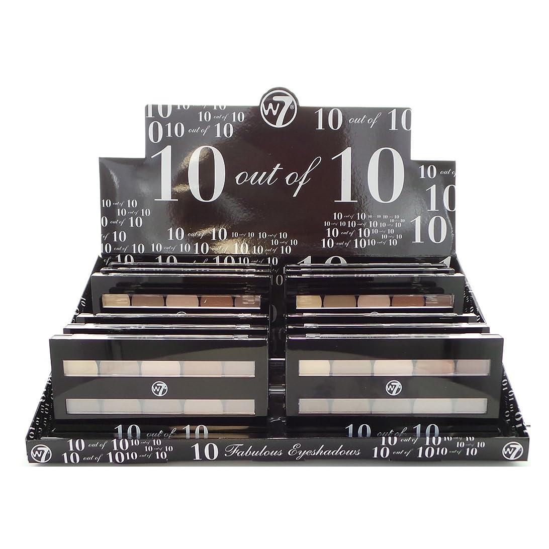 ラダ熱望する寛大なW7 Perfect 10 out of 10 Eyeshadow Palette Browns Display Set, 12 Pieces (並行輸入品)