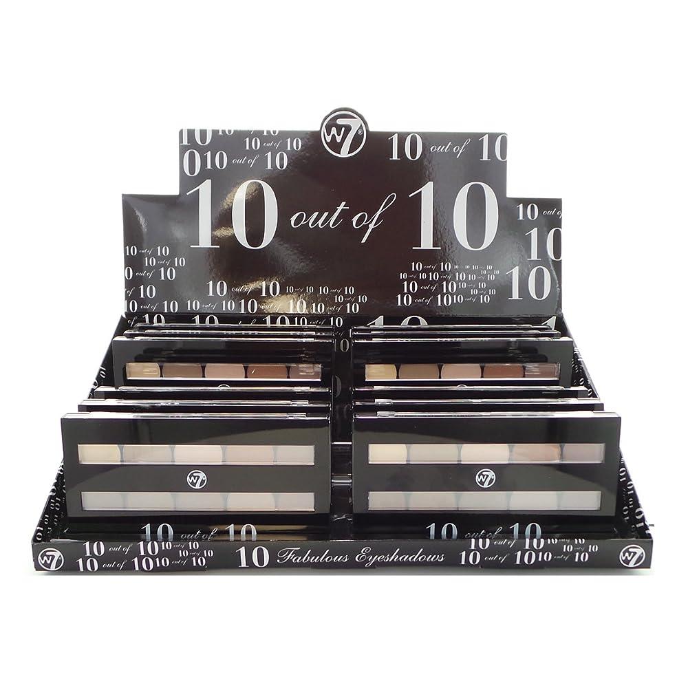 うぬぼれた決定情緒的W7 Perfect 10 out of 10 Eyeshadow Palette Browns Display Set, 12 Pieces (並行輸入品)