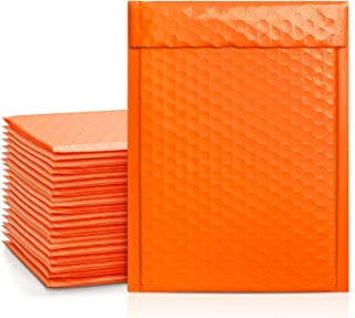 Metronic Orange Bubble Mailers 25 Pack, 6x10 Bubble Poly Mailers, Self-Seal Shipping Bags, Padded Envelopes, Bubble Polyma...