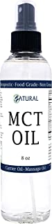 MCT Oil, Certified Food and Therapeutic Grade, Carrier Oil, Massage Oil, Hydrating Oil, Hair Oil, 0 Additiv...