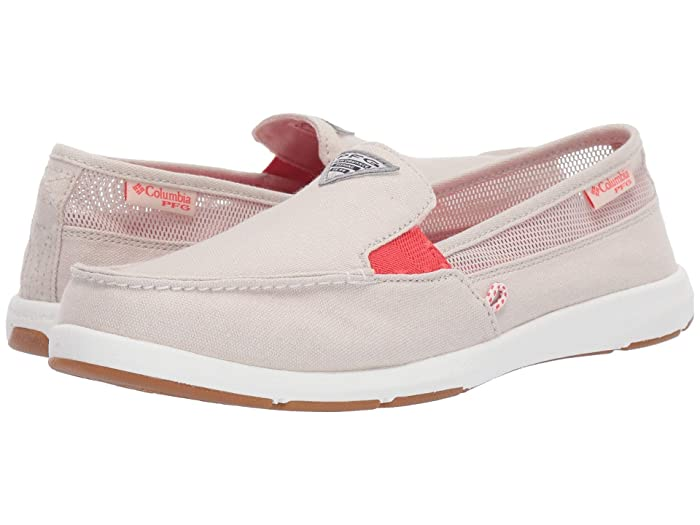 Columbia  Delraytm II Slip PFG (Fawn/Red Coral) Womens Slip on  Shoes