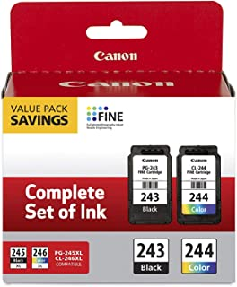 Canon 2 Pack Ink Package with PG-243 Black, CL-244 Color Ink Cartridge