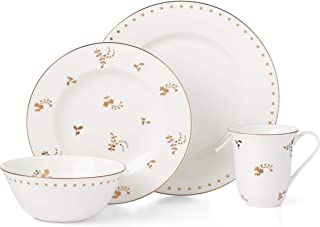 Lenox Opal Innocence Flourish 4-Piece Place Setting, 5.35 LB, White