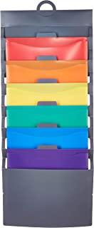 AmazonBasics Hanging 6 Pocket File Folders - Multicolor