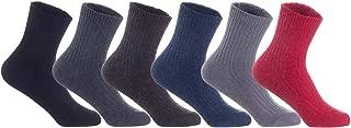 Lian LifeStyle Women's Perfect Fit Comfortable Wool Crew Socks LK0602 Size 6-9