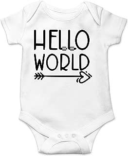 Hello World - Future World Traveler - Let The Adventure Begin - Cute One-Piece Infant Baby Bodysuit