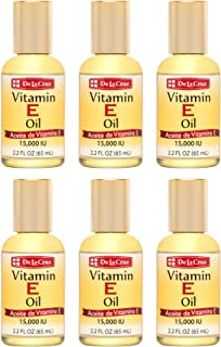 De La Cruz Vitamin E Oil for Skin, Face and Body 15,000 IU - No Preservatives, Artificial Colors or Fragran...