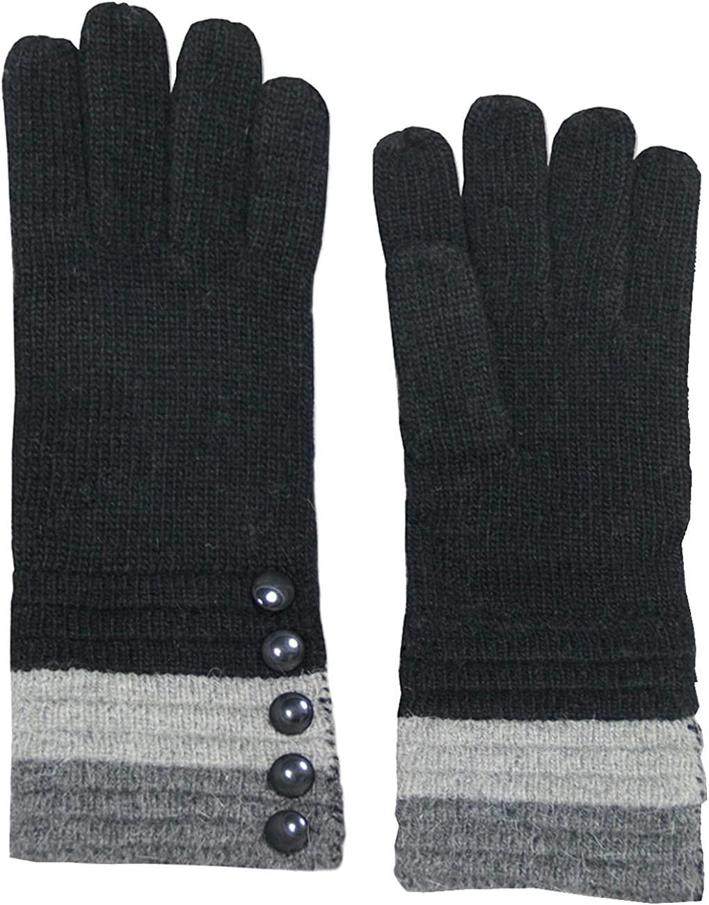 Dahlia Winter Gloves for Women - Wool Knit Cold Weather Gloves, Various Designs