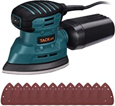 TACKLIFE Mouse Detail Sander 12,000 OPM, New Model Electric Sander with Dust Collection System, 12Pcs Sandpapers, Vacuum C...