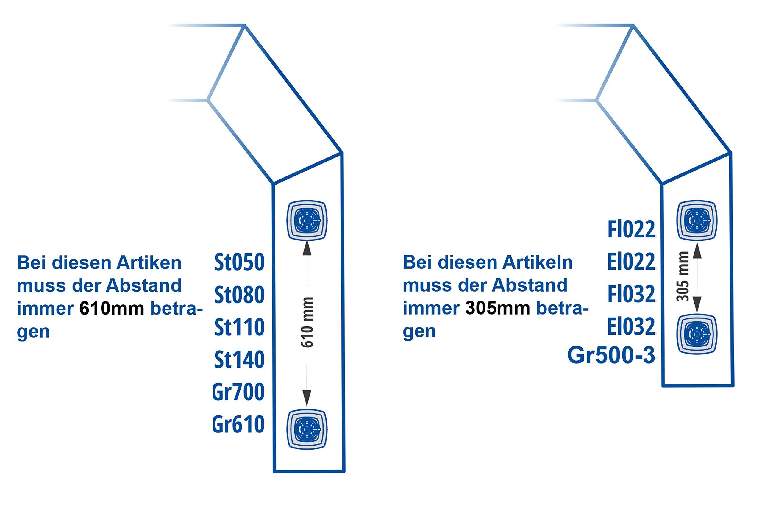 Fasten - Escalera de aluminio para barcos y embarcaciones neumáticas (diámetro de 22 mm hasta máx. 100 kg)., negro/plateado: Amazon.es: Deportes y aire libre