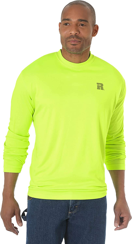 Wrangler Riggs Workwear Men's Big & Tall Long Sleeve Crew Performance Shirt