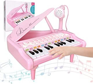 OKREVIEW Toddler Toy Piano - Baby Girl Piano Toy Keyboard Pi