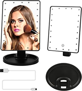 GPCT 22 LED Makeup Vanity HD Mirror. Three Brightness Modes, 180° Adjustable Rotation