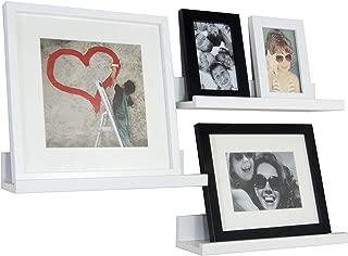 BD ART Wall Shelf - Set of Three 14 Inch Floating Shelves (35 x 10 cm) - White
