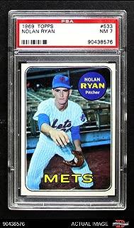 1969 Topps # 533 Nolan Ryan New York Mets (Baseball Card) PSA 7 - NM Mets