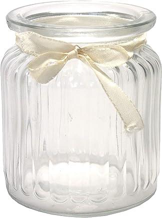 Kerzenwindlicht Glaswindlicht Vasen Kerzenhalter 6 x Windlichter aus Glas in Top Qualit/ät 13,5 x 21,5 cm Glaszylinder Kerzengl/äser