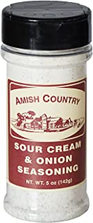 Amish Country Popcorn - Sour Cream & Onion (5 Oz) Popcorn Seasoning Variety With Recipe Guide - Nut Free