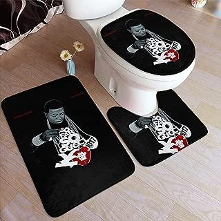 REECECAM Gucci Mane Bathroom Rug 3 Piece Bath Mat Set Contour Rug and Lid Cover