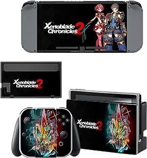 Nintendo Switch 任天堂スイッチ ゼノブレイド2 xenoblade スキンシール 保護カバー 本体用 + コントローラー用 オリジナルステッカー セット 4