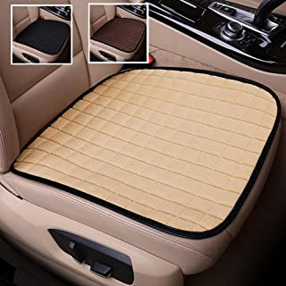 Rayauto 2 Pack Winter Short Plush Seat Cushion Car Drivers Seat Covers Without Backrest Cushion Universal Car Interior Seat Protector Mat Pad