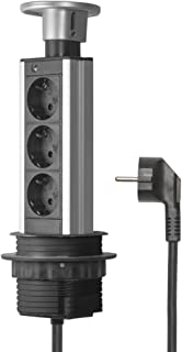 Elbe Socket para Mesa Empotrado, Multi-Socket con 3 enchufes