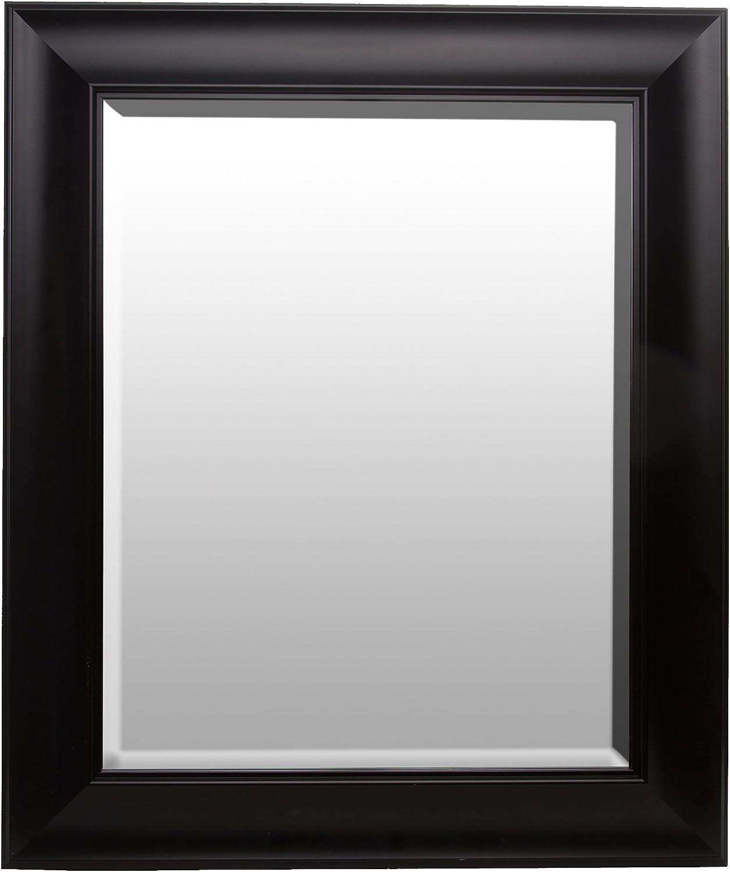 Patton Wall Decor 16x20 Traditional Black Beveled Wall Mirror
