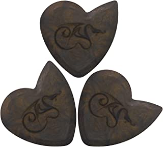 Hardened Dragon's Heart Guitar Pick - 1500 Hours of Durability, 2.5mm Thickness, Three Pack