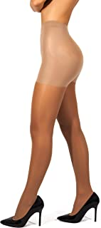 sofsy High Waisted Slimming Tights For Women - Shaping Semi Sheer Pantyhose   30 Den [Made in Italy]