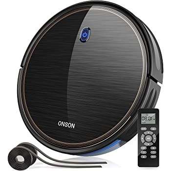 Robot Vacuum, GOOVI by ONSON 2100Pa Upgrade Robotic Vacuum Cleaner with Gyroscope, Self-Charging Vacuum with Boundary Strips, Pet Hair, Hard Floor, Carpets