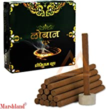MARSHLAND Special Pure Fragrance Incense Loban Dhoop Cones Natural Integrands Mixed Dhoop Batti Sticks (Pack of 2)