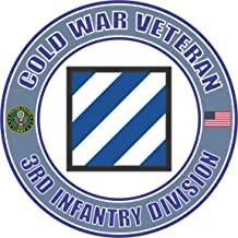 U.S. Army Cold War 3rd Infantry Division Veteran Window Bumper Sticker Decal 3.8