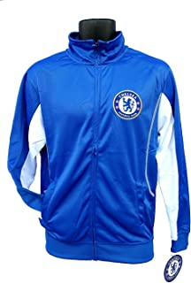 Chelsea FC Adult Blue Soccer Football Jacket Track Zip Up 2015-2016