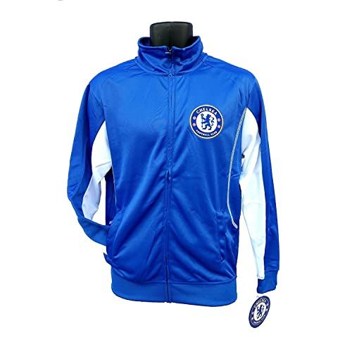 a21a88805f2 Chelsea FC Adult Blue Soccer Football Jacket Track Zip Up 2015-2016