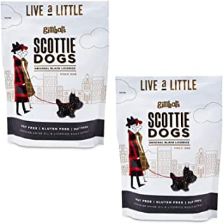 Gimbal's Scottie Dogs All Natural Black Licorice - Real Licorice Root and Pure Anise - 6 Ounce Resealable Bags (2)